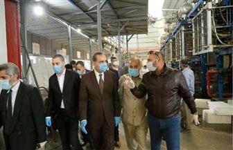 محافظ كفر الشيخ ونائبه يتفقدان عددا من المصانع بالمنطقة الصناعية بمطوبس| صور