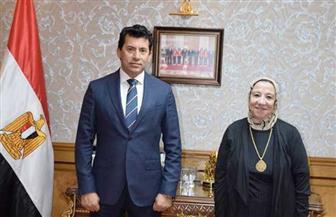 وزير الرياضة يلتقي رئيس اللجنة البارلمبية المصرية | صور