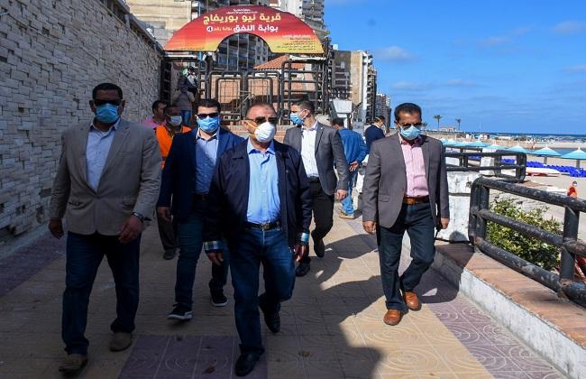 محافظ الإسكندرية رفعنا درجة الاستعداد القصوى ولا تواجد لمواطنين على الكورنيش | صور