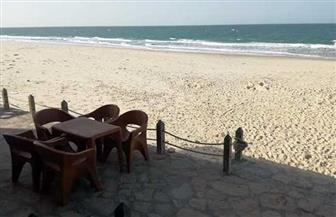 شاطئ العريش خال من المواطنين في شم النسيم بسبب كورونا | صور
