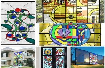طلاب الفنون التطبيقية بجامعة حلوان يصممون واجهات معمارية بالزجاج | صور
