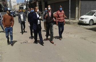 نائب محافظ بورسعيد يتفقد أعمال التطهير ورفع المخلفات بحي المناخ | صور