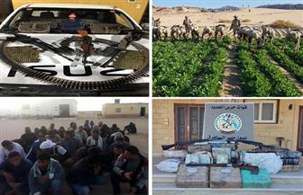 اكتشاف وتدمير 10 فتحات نفق بشمال سيناء وضبط 318 بندقية و3,5 مليون قرص من المواد المخدرة|فيديو