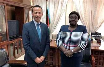 السفير المصري في چوبا يلتقي بوزيرة خارجية جنوب السودان