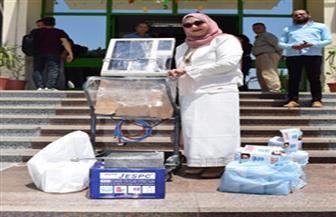 مؤسسة المنى الخيرية تتبرع بجهاز تنفس صناعي لمستشفى سوهاج الجامعي | صور