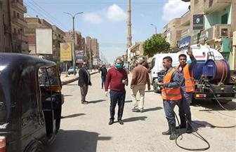 حملات مكبرة بمركز أبوقرقاص لتعقيم المنشآت