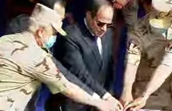 الرئيس السيسي يعطي إشارة خروج ماكينة الحفر من نفق الشهيد أحمد حمدي 2