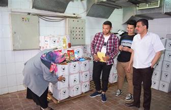 """مبادرة جامعة سوهاج """"رمضان.. عيلة كبيرة"""" تنتهي من توزيع المواد الغذائية   صور"""