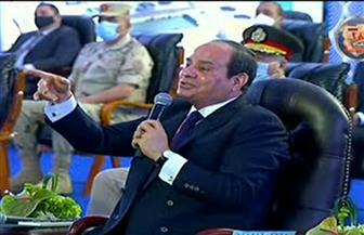 الرئيس السيسي: تكلفة البيت الريفي الواحد في سيناء يبلغ 2.4 مليون جنيه مقارنة بعدد السكان