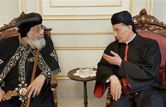 بطريرك الكنيسة المارونية يعزي البابا تواضروس في وفاة القس رويس الأورشليمي