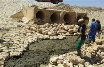 مدينة مرسى مطروح: الانتهاء من مخرات السيول بقرية الزيات وعجيبة | صور
