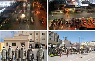 القوات المسلحة تواصل التطهير والتعقيم الوقائي بالجيزة ومطروح.. والأولوية للمناطق التى تشهد تردد أعداد كبيرة