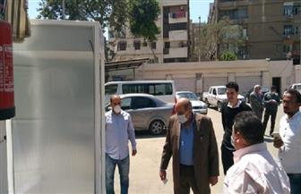 كبائن تعقيم لحماية المواطنين المترددين علي ديوان محافظة الجيزة| صور