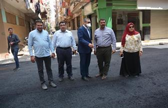 نائب محافظ الغربية يتابع تنفيذ مشروعات الرصف بطنطا| صور