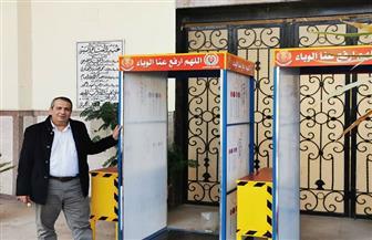 4 بوابات تعقيم بمدخل كلية آداب المنصورة |صور