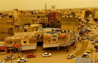 العاصفة الترابية تجتاح شمال سيناء
