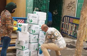 تضامن بورسعيد توزع كمية من المواد الغذائية على 250 أسرة في الحجر الصحي والعمالة غير المنتظمة  صور