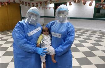 """مستشفى عزل كفرالزيات تحتفل بـ """"سبوع"""" أول مولود داخل الحجر الصحي  صور"""