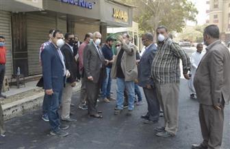 محافظ الجيزة يتفقد أعمال رصف وتطوير شارع الشعب بالعمرانية |صور