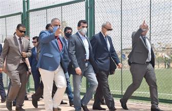 وزير الشباب والرياضة يفتتح عددا من المنشآت الرياضية داخل نادي العبور