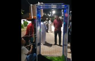 شاهد.. تشغيل بوابة تعقيم إلكترونية بمدخل مدينة الطود في الأقصر | فيديو