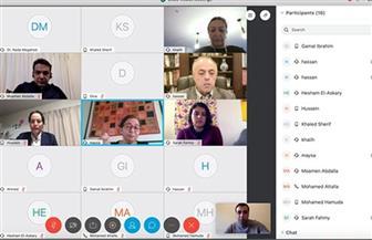 """خبراء مصر بالخارج يجتمعون عبر""""فيديو كونفرنس"""" لدعم طلاب المدارس والجامعات في تجربة التعليم عن بعد"""