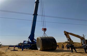 تنفيذ 6 عدايات لخطوط المياه وشبكات الصرف ضمن أعمال توسعة طريق القاهرة - الإسماعيلية الصحراي| صور