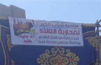 منفذ لبيع اللحوم البلدي بـ 80 جنيها بميدان السيدة زينب بالأقصر| صور