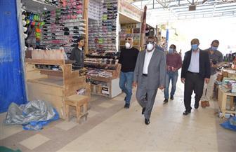 محافظ مطروح يتفقد الإجراءات الوقائية بسوق ليبيا   صور