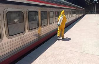 هيئة السكك الحديدية تواصل أعمال التطهير والتعقيم للمحطات والقطارات   صور