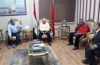 محافظ بورسعيد ورئيس هيئة مشروعات التعمير يناقشان القضاء على التعدي على أراضى الدولة