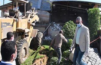 محافظ الفيوم يقود حملة لإزالة حالتي تعد على الأراضي الزراعية | صور