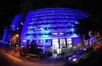 التضامن تضىء مبانيها باللون الأزرق احتفالا باليوم العالمي للتوحد|صور