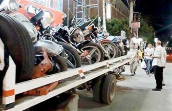ضبط 34572 قطعة غيار سيارات ودراجات نارية مجهولة بحملات بالقاهرة