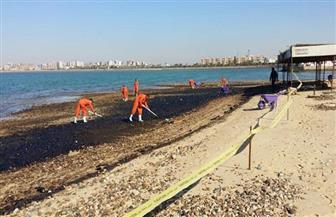 تطهير وتعقيم منطقة شاطئ النخيل بالإسكندرية ضد كورونا