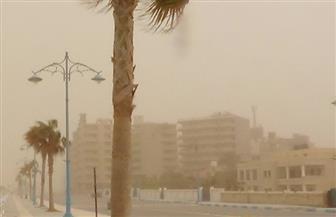 مدن مطروح تتعرض لعاصفة ترابية