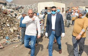 محافظ الدقهلية ومندوب العربية للتصنيع يتفقدان موقع مصنع تدوير القمامة بسندوب | صور