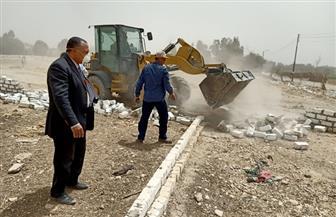 سكرتير محافظة أسيوط يترأس حملة لإزالة التعديات والمخالفات بمركزي صدفا وأبنوب | صور