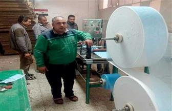 عمال غزل المحلة يصنعون ماكينات بورش الشركة لإنتاج الكمامات بأسعار مخفضة وبمكونات محلية   صور
