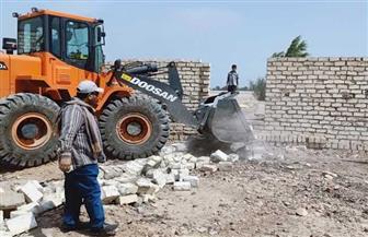 إزالة 8 حالات تعد على الأراضي الزراعية باهناسيا في بني سويف | صور