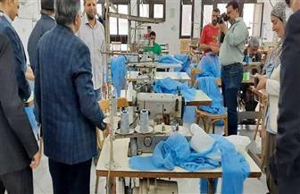 اتحاد الصناعات المصرية وجامعة حلوان: بدء إنتاج مستلزمات الحماية الشخصية للفرق الطبية  صور