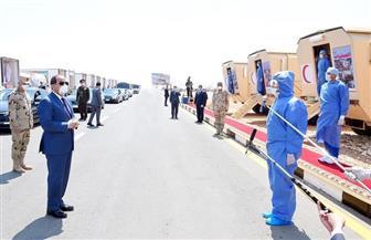 ننشر صور تفقد الرئيس السيسي للمعدات والأطقم الطبية التابعة للقوات المسلحة