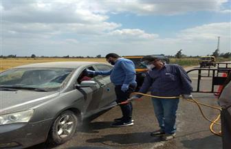 محافظ كفرالشيخ يشرف على أعمال التعقيم بمنافذ المحافظة الحدودية   صور