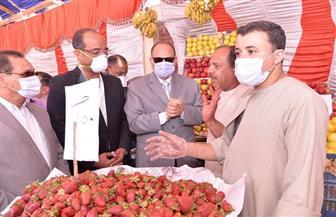 محافظ أسيوط يفتتح معارض حزب مستقبل وطن للسلع الغذائية| صور