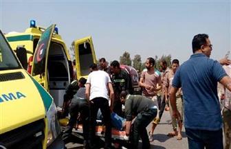 إسعاف قنا: خروج 38 مصابا من حادث انقلاب سيارة محملة بعمالة زراعية