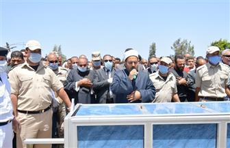 تشييع جثمان شهيد الواجب الوطني أحمد حامد عبد النبي في كفر الدوار |صور