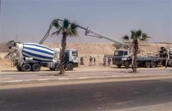 """رئيس جهاز """"15 مايو"""": صب الخرسانة لبيارة محطة رافع الصرف الصحى بمشروع الإسكان الاجتماعى"""