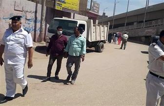 إخلاء وفض أسواق مزغونة والعزيزية ورفع إشغالات شارع النيل السعيد بالبدرشين | صور