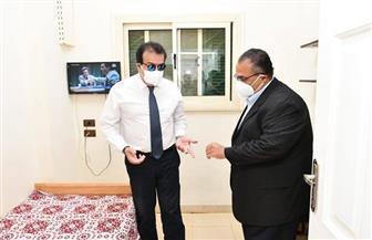 وزير التعليم العالي يطمئن على جاهزية المدينة الجامعية بعين شمس لاستقبال العائدين من الخارج | صور