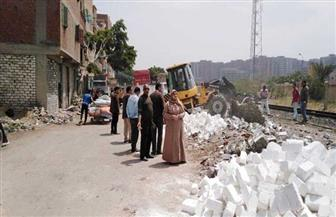 إزالة تعديات عن حرم السكة الحديد غربي الإسكندرية|صور